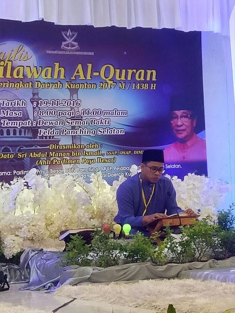 Majlis Tilawah Al-Quran Peringkat Daerah Kuantan Bagi Tahun 2017
