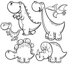 Baby Dinosaur Hatching Coloring Pages