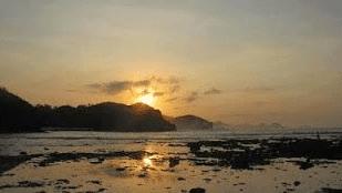 Sunset Pantai Watu Karung Pacitan