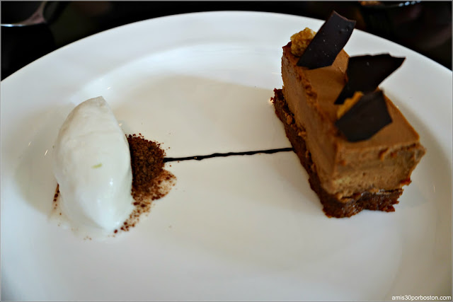 Dine Out  Bistro Du Midi: Hazelnut Mousse, feuilletine, coconut-lime sorbet