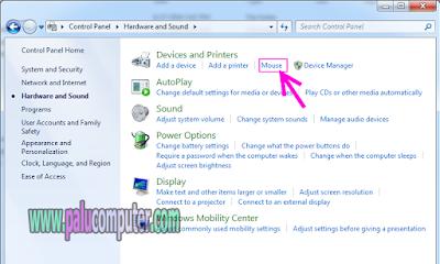 menukar klik kanan pada mouse