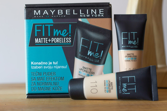 Maybelline Fit Me Matte + Poreless tekući puder