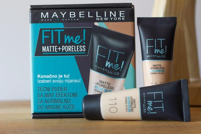 Maybelline Fit Me Matte + Poreless tekući puder