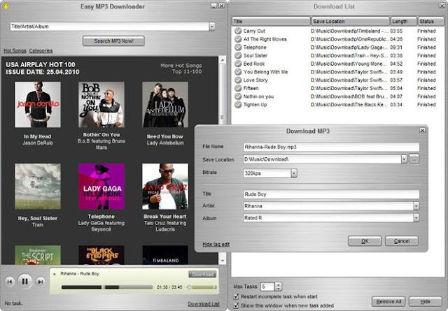 Easy MP3 Downloader 4.7.6.8 Full + Patch โปรแกรมดาวน์โหลด MP3 ง่าย รวดเร็ว [One2up]