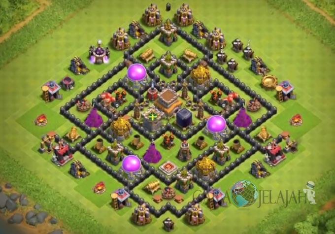 Base Hybrid TH 8 Clash Of Clans Terbaru Tipe 15