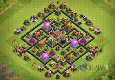 Base Hybrid TH 8 Clash Of Clans Terbaru Tipe 15