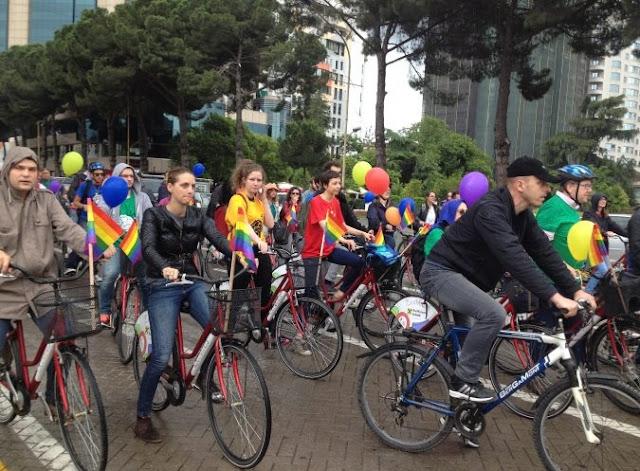 LGBT community parade in Tirana
