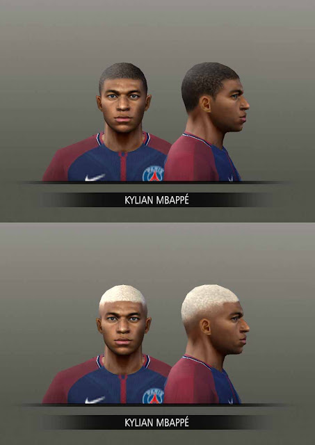 ultigamerz: PES 6 Kylian Mbappe (PSG) Faces Pes 2018 Edition HD