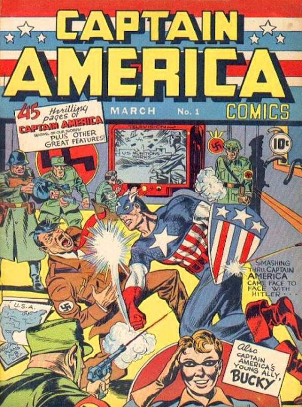 Captain America Comics (1941) #1, by Jack Kirby and Joe Simon.