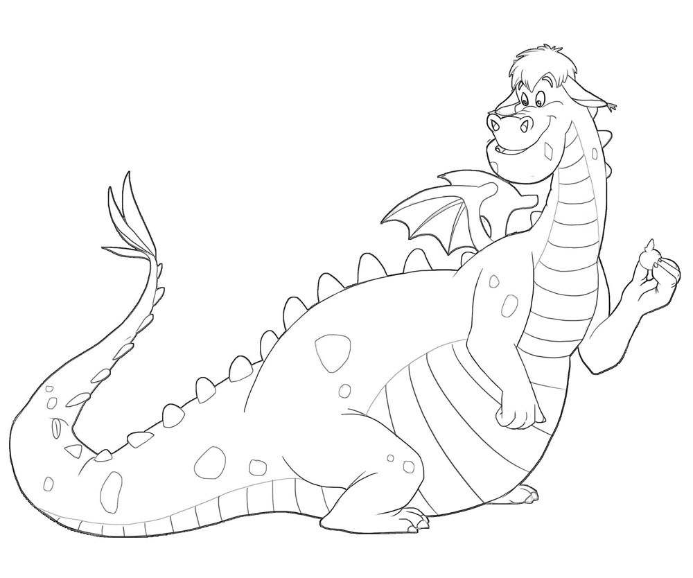 #1-top-pete-dragon-printable-coloring-pages