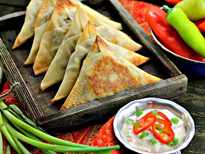 Spicy Vegetable Samosas #vegetarian #veganspicy
