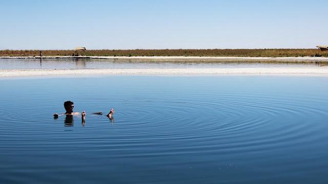 Laguna Cejar no verão