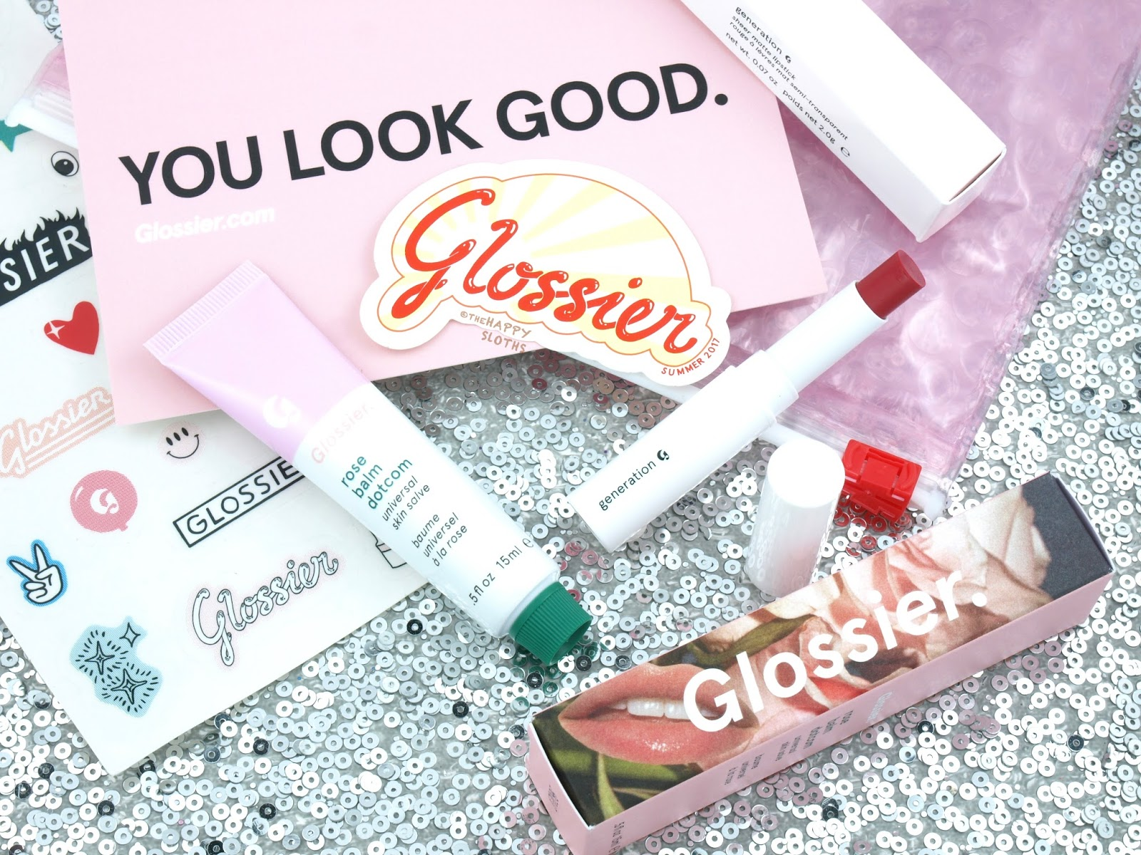Glossier Generation G Lipstick & Rose Balm Dotcom: Review and Swatches