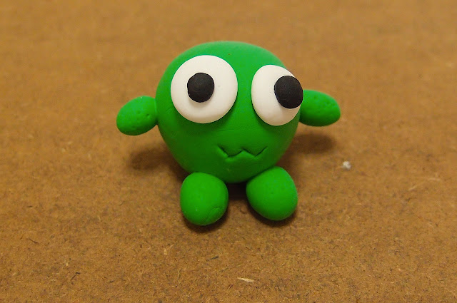 green monster made from clay