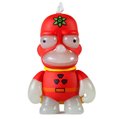 "New York Comic Con 2016 Exclusive The Simpsons Radioactive Man 3"" Glow in the Dark Mini Vinyl Figure by Kidrobot"