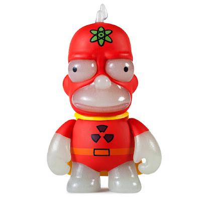 "New York Comic Con 2016 Exclusive The Simpsons Radioactive Man 3"" Glow in the Dark Mini Vinyl Figure by Kidrobot"