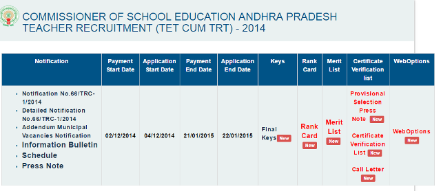 AP TET cum TRT-2014 Web Options Step by Step Process to give web options online for DSC-2014 Posting allotments of Places | http://apdsc.cgg.gov.in process to give web options Online for selction of schools for posting orders http://www.paatashaala.in/2016/03/how-to-give-web-options-for-ap-tet-cum-trt-online-dsc-2014-counselling.html