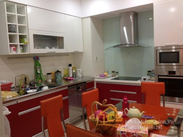 Tủ bếp gỗ nhựa picomat 2