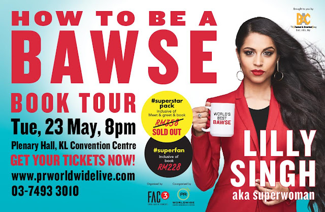 HOW TO BE A BAWSE BOOK TOUR (Malaysia) Lilly Singh Live in Kuala Lumpur Malaysia