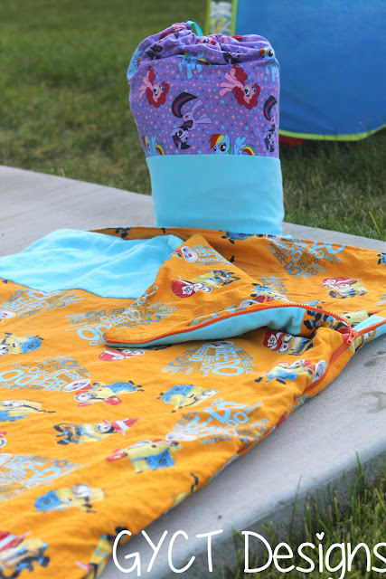 Kids Camp Sleeping Bag Tutorial by GYCT