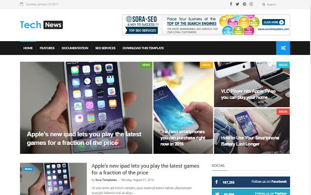 Plantilla blogger 2018 - 2019 profesionales gratis tech new