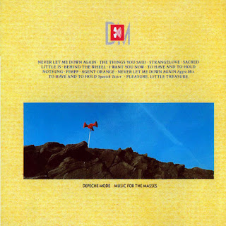 Contraportada de Music for the Masses de Depeche Mode, 1987