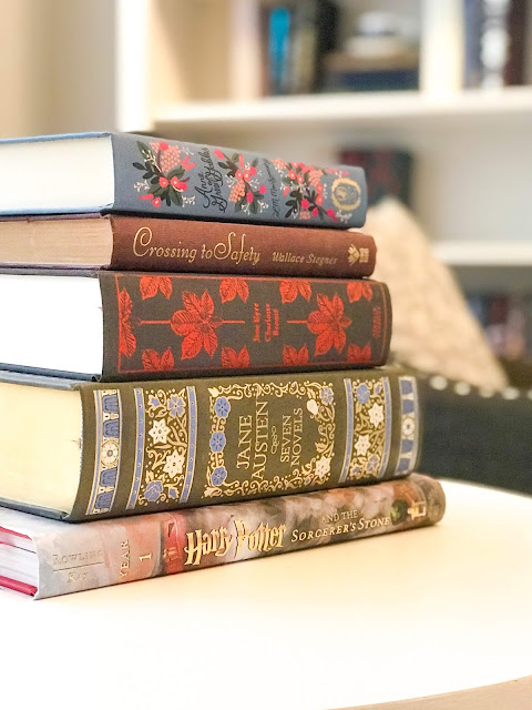 Re-reading, rereading, good books, list of books worth re-reading, jane austen, jane eyre, anne of green gables, harry potter, crossing to safety