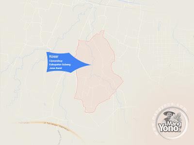 PETA : Desa Kosar, Kecamatan Pabuaran