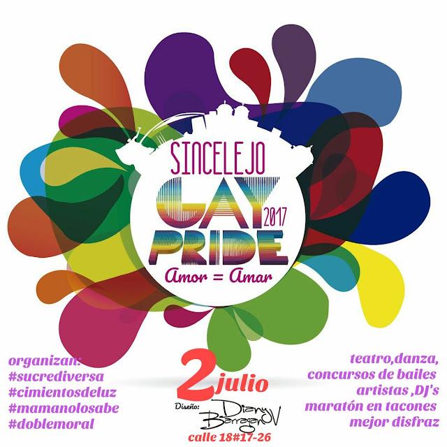 marcha gay orgullo lgbt 2017 lesbianas sexo travesti colombia sincellejo sucre