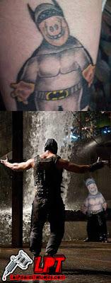 tatuaje de ALF disfrazado de Batman