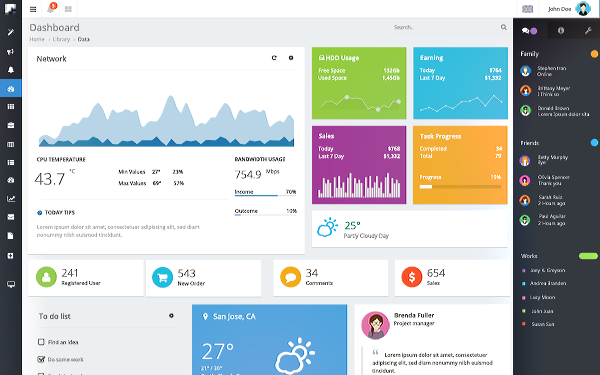 Download Nifty Responsive Admin Template Download