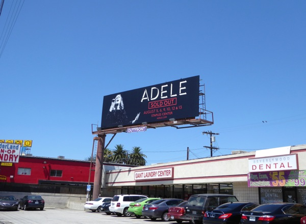 Adele Staples Center concert billboard