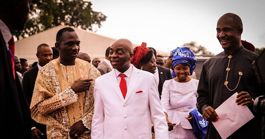 Photos From Pastor Paul Enenche 50th Birthday Celebration with Bishop Oyedepo at The Lord's Garden