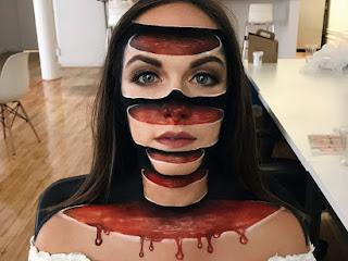Mulher cria ilusão de ótica apenas usando maquiagem