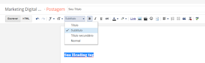 Headings tags