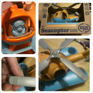 Green Toys Seacopter collage