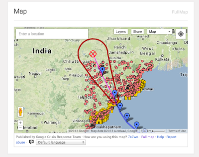 Crisis Map of Cyclone Phailin