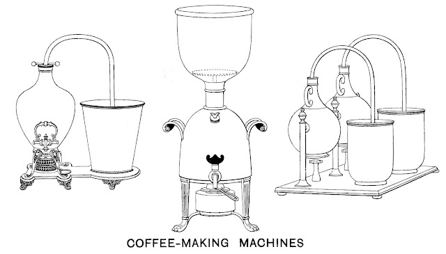 1900 coffee-making machines, an illustration