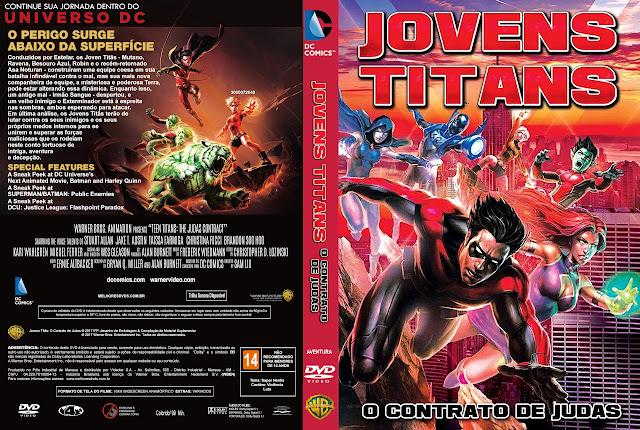 Capa DVD Jovens Titãs O Contrato de Judas [Exclusiva]