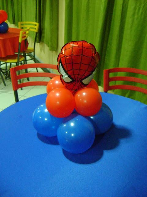 Centros de Mesa Homem Aranha para Festa Infantil