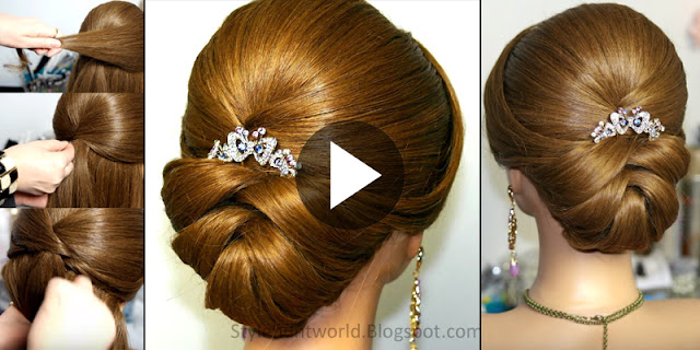 Learn - How To Make Quick And Easy Bridal Hairstyle, See Tutorial