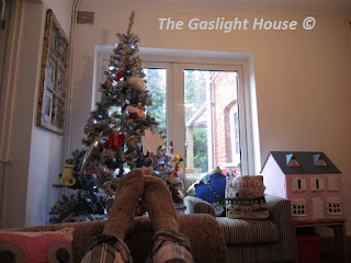 The Gaslight House woolly socks, pyjamas, Christmas tree, dolls house, cottage life