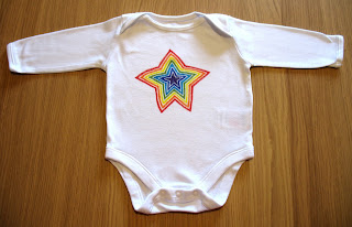 rainbow star onesie