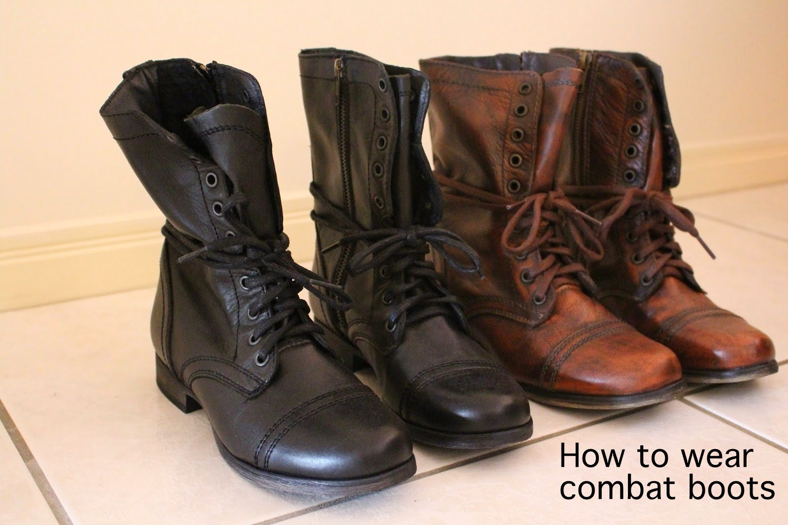 combat boots, brown combat boots, black combat boots, how to wear combat boots, combat boots and a dress, combat boots and denim shorts, petite girl combat boots, jeans and combat boots, combat boots and a leather jacket,