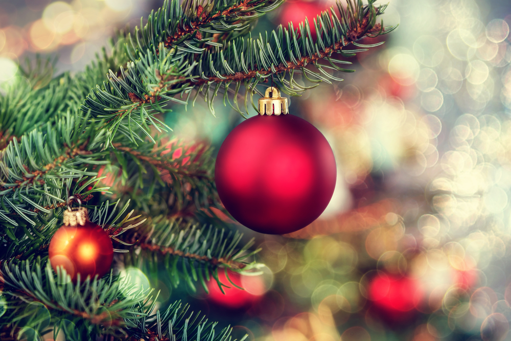 red christmas tree decorations in iceland - Iceland Christmas Traditions