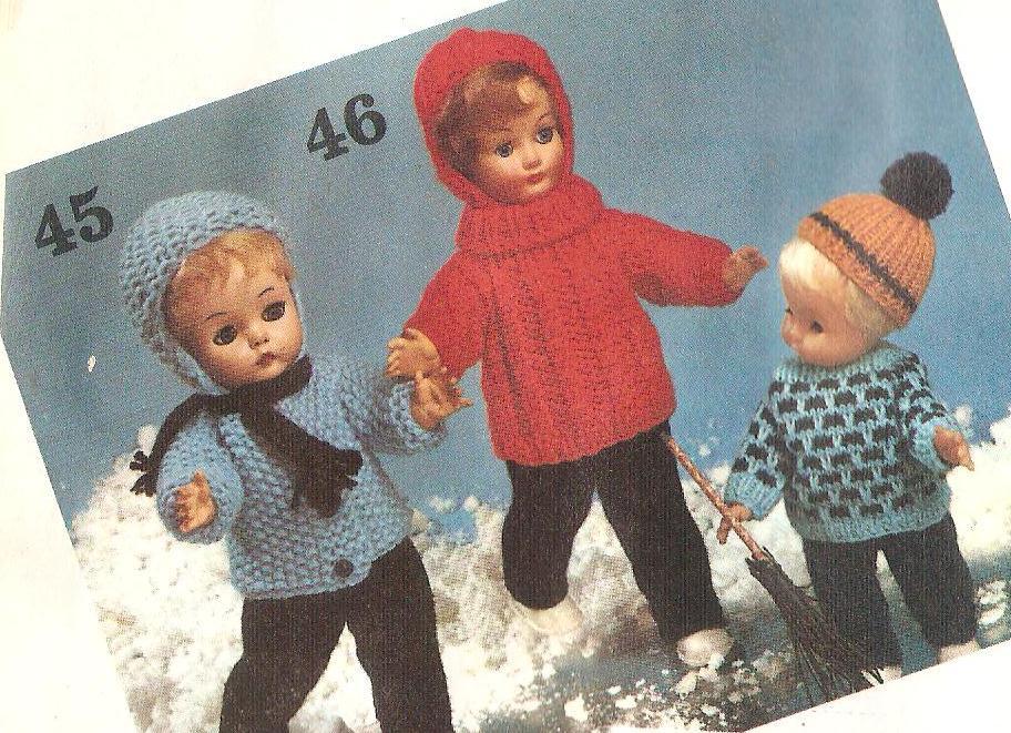 Breipatronen Voor De Pop Zelf Poppenkleding Breien