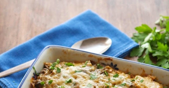 Caramelized Cauliflower and Mushroom Casserole