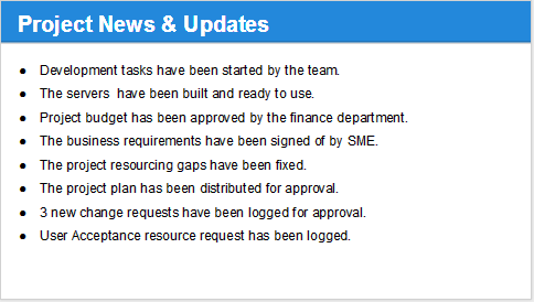 Status Update Template project status update template kpi – Monthly Project Status Report Template