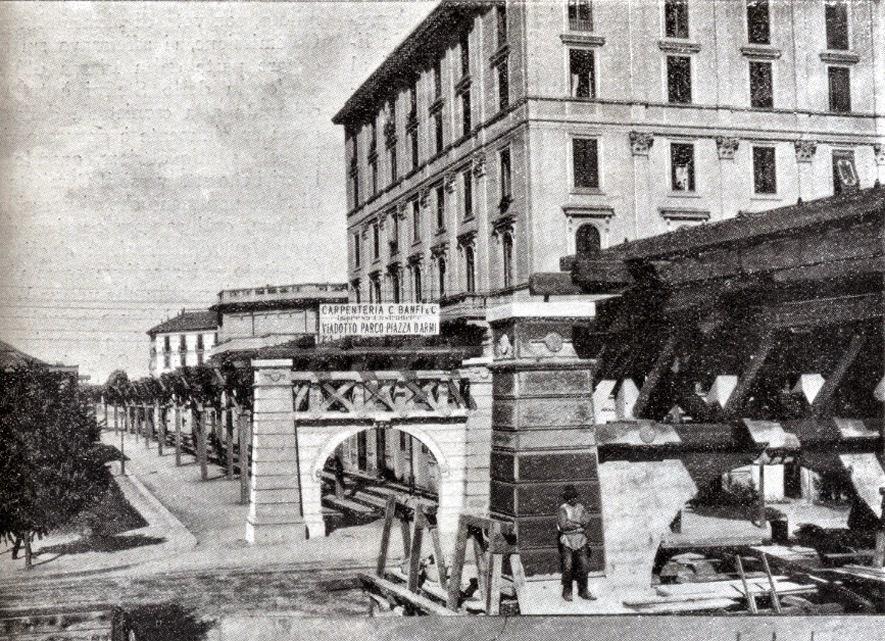 1906 esposizione ferrovia sopraelevata banfi