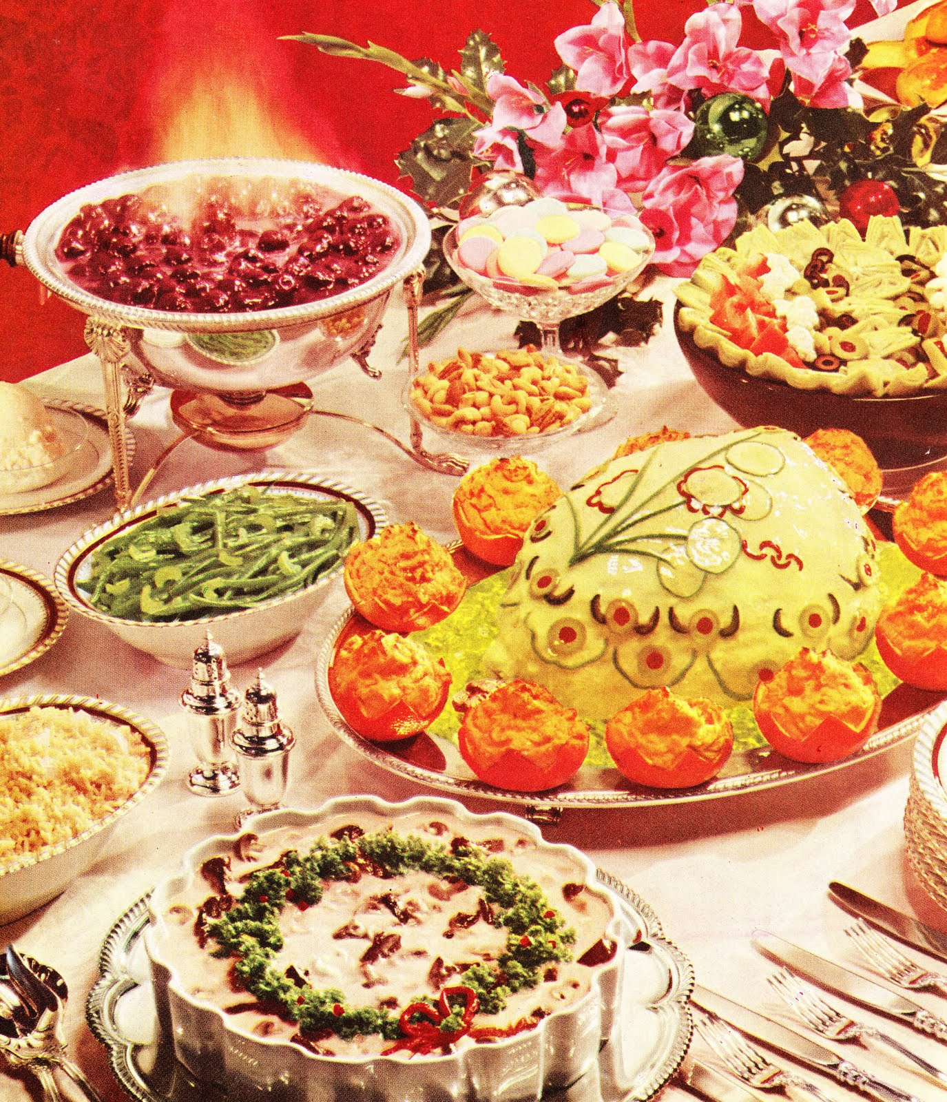 Buffet Cuisine 1950: The Retro/Vintage Scan Emporium: I Wouldn't Eat That Of